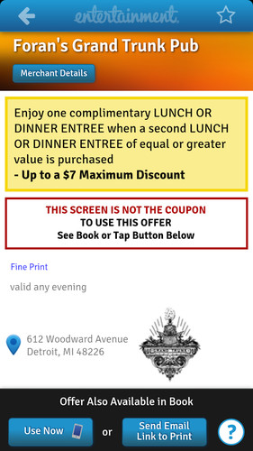 Entertainment Coupons screenshot 12
