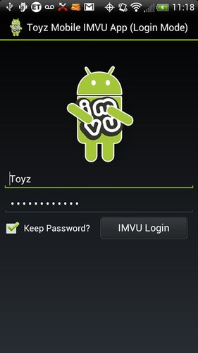 Free Toyz Mobile App for IMVU cell phone app