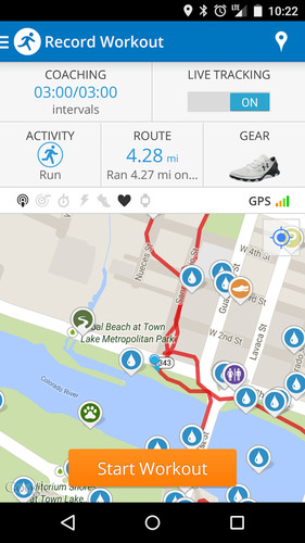 Free Run with Map My Run cell phone app