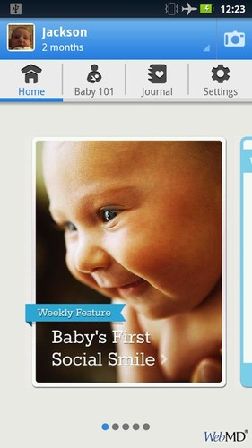 Free WebMD Baby cell phone app