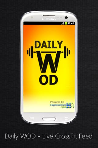 Free Daily WOD - Live CrossFit Feed cell phone app