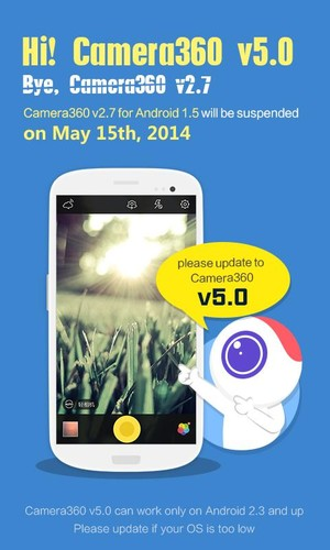 Free Camera360 for Android 1.5 cell phone app