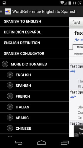 WordReference.com dictionaries screenshot 4