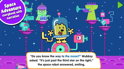 Free Wubbzy's Space Adventure cell phone app