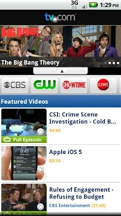 Free TV.com cell phone app