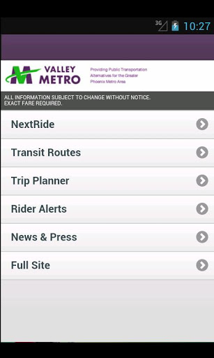 Free Valley Metro Mobile Launcher cell phone app
