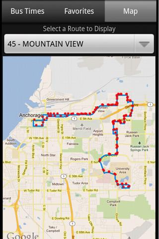 Free Anchorage Bus Times cell phone app