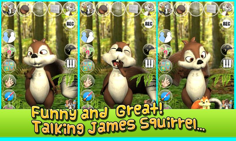 Free Talking James Squirrel cell phone app