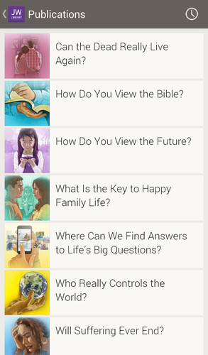 Free JW Library cell phone app