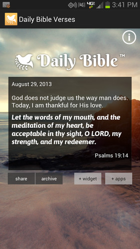 Free Daily Bible Verses cell phone app
