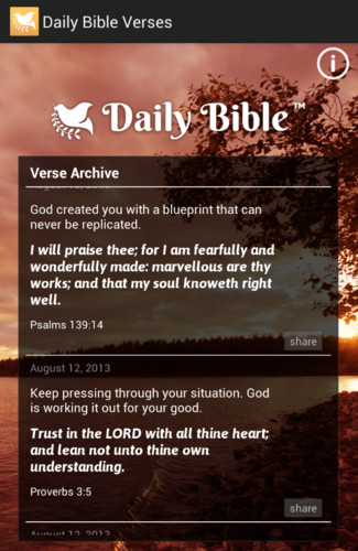 Daily Bible Verses screenshot 2