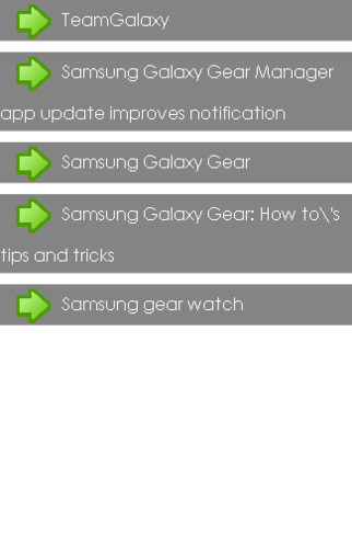Free Galaxy Gear App Guide cell phone app