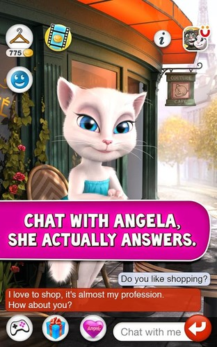 Free Talking Angela cell phone app