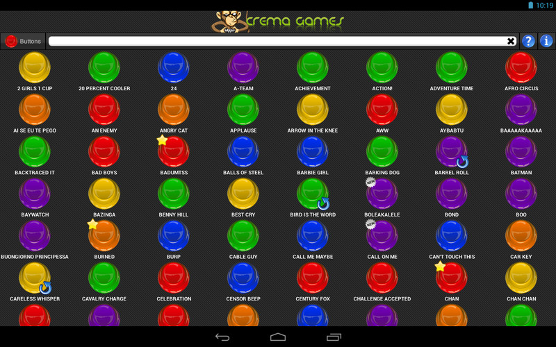 Free Instant Buttons cell phone app