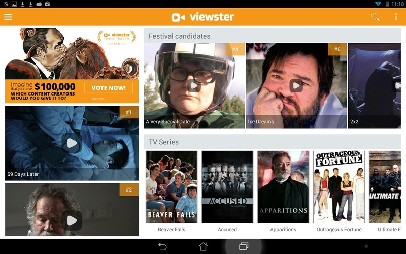 Free Viewster – Free Movies & Shows cell phone app