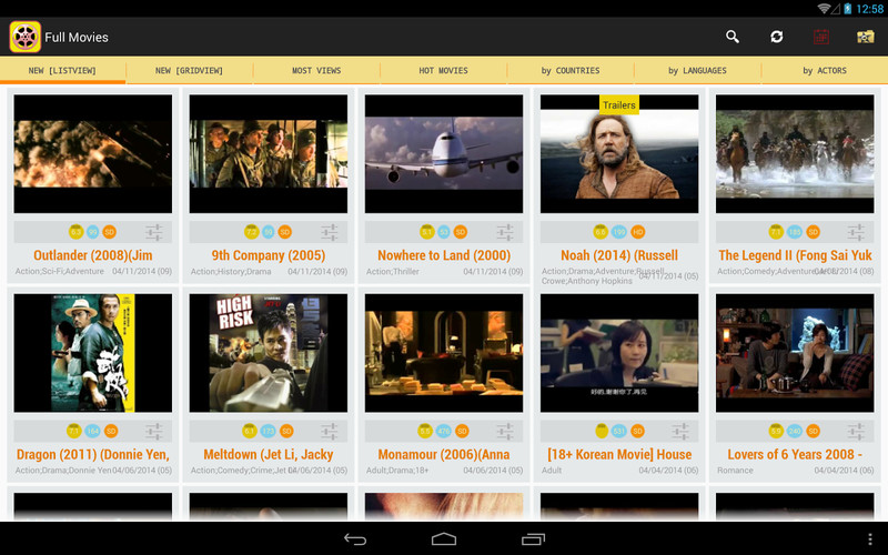 Free Full MovieTube cell phone app