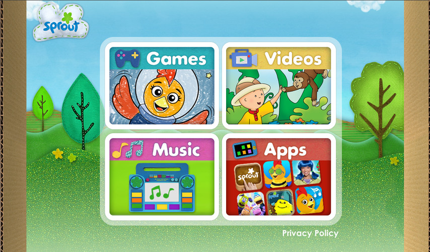 Free Sprout Games & Videos cell phone app