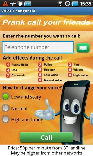 Free Prank call your friends cell phone app