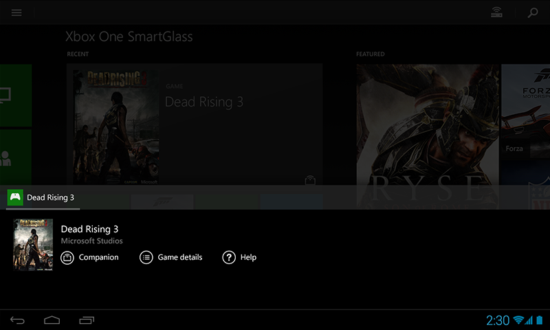 Free Xbox One SmartGlass Beta cell phone app