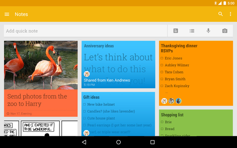 Free Google Keep - notes and lists cell phone app