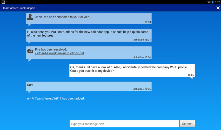 TeamViewer QuickSupport screenshot 2
