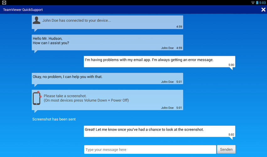 TeamViewer QuickSupport screenshot 3