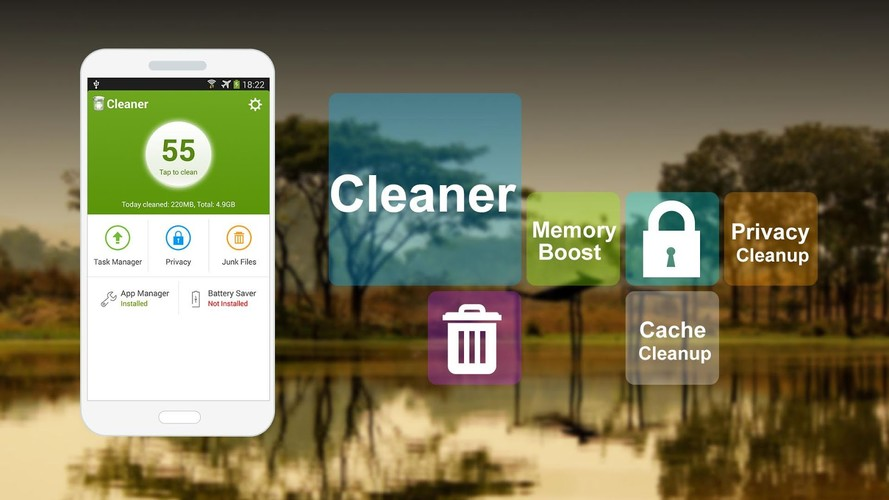 Free Cleaner cell phone app