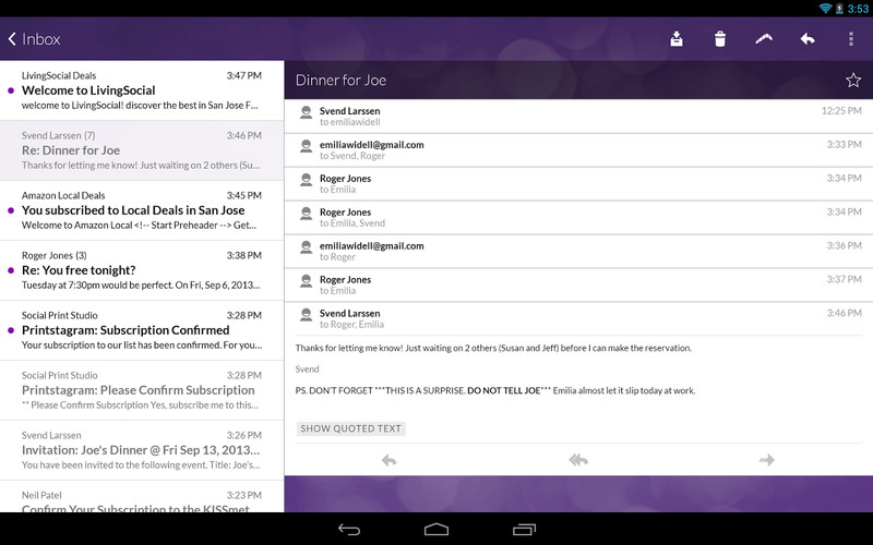 Email App for Gmail & Exchange screenshot 3