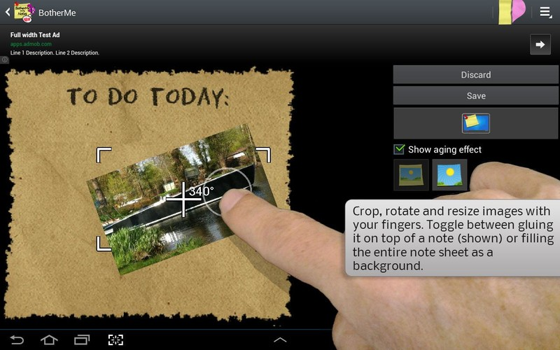 Free Sticky Note BotherMe Reminder cell phone app