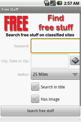Free Find Free Stuff cell phone app