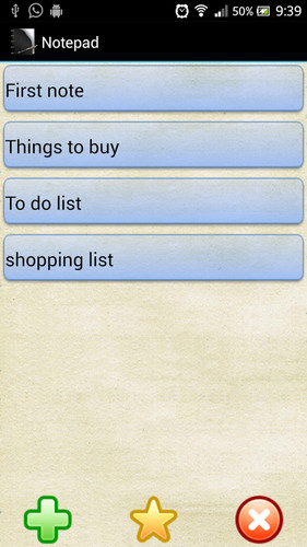 Free Notepad cell phone app