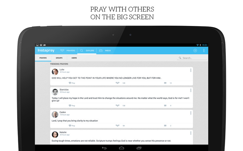 Free Instapray - your prayer app! cell phone app