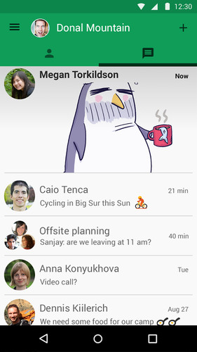 Hangouts screenshot 1