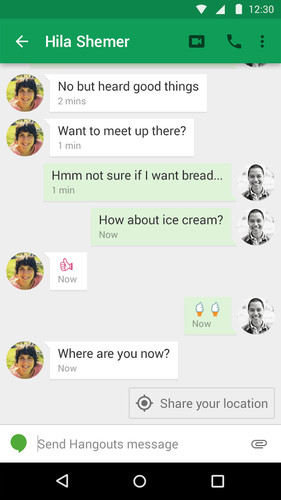 Hangouts screenshot 5