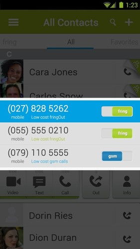 fring Free Calls, Video & Text screenshot 2