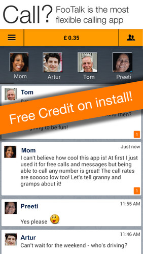 Free Calling made easy cell phone app