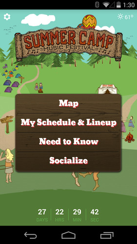 Free Summer Camp Music Festival cell phone app