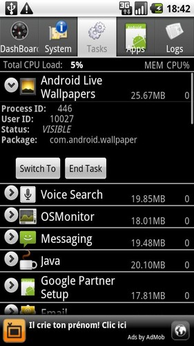 Android System Info screenshot 2