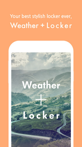 Free Weather + Locker cell phone app