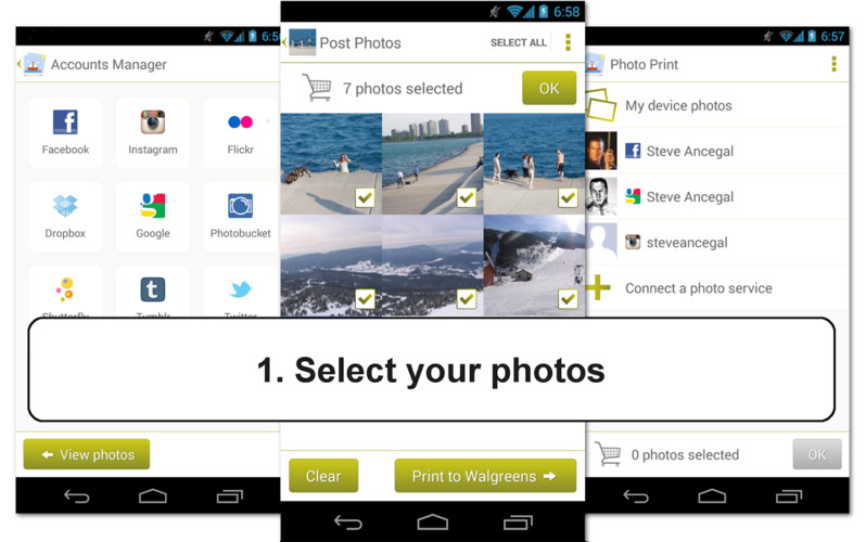 Free Print Photos - 1h Photo Prints cell phone app