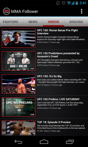 MMA Follower: All of MMA & UFC screenshot 21