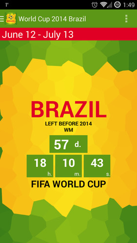 Free Brazil 2014. World cup guide cell phone app