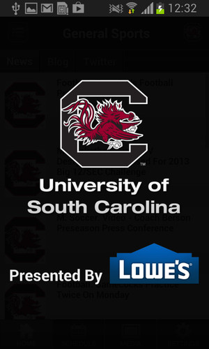Free South Carolina Gamecocks Sport cell phone app