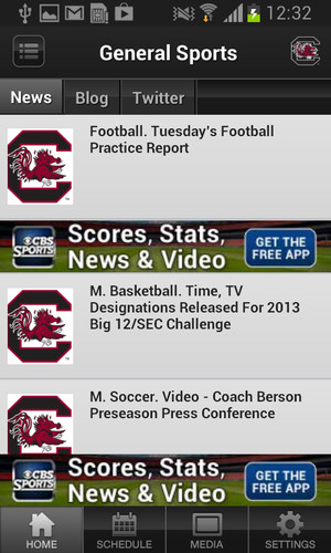 South Carolina Gamecocks Sport screenshot 2