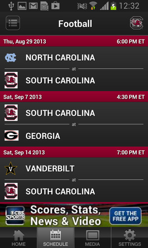 South Carolina Gamecocks Sport screenshot 3