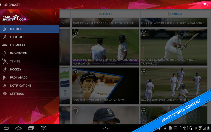 Free Star Sports Cricket Scores cell phone app