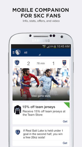 Free Sporting Club Uphoria cell phone app