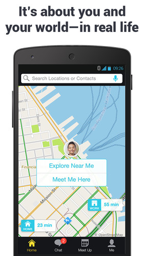 Free Scout GPS Maps, Meetup & Chat cell phone app