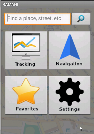Free RAMANI Navigation and Tracking cell phone app