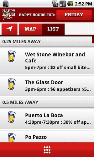 Free Happy Hour Finder cell phone app